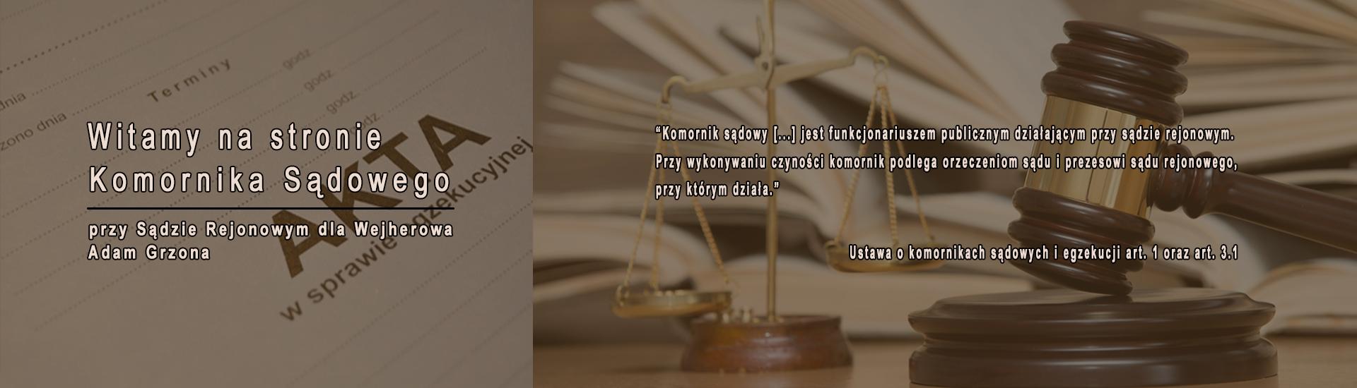 Komornik Sądowy przy Sądzie Rejonowym dla Wejherowo - w Wejherowie